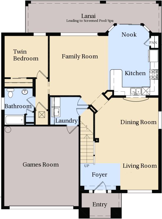 Windsor hills kissimmee villa floor plan for Rental property floor plans